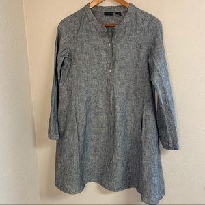 Tahari 100% linen dress with pockets